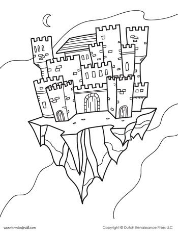 fantasy coloring page
