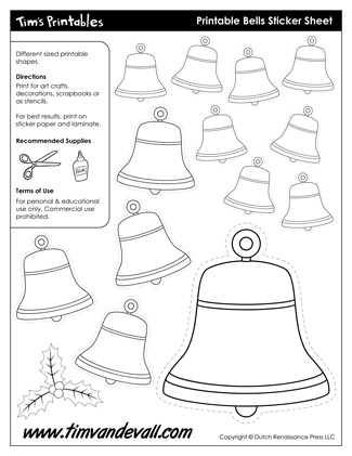 Christmas Bell Template