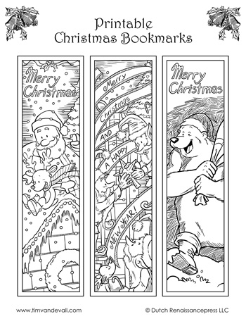picture relating to Printable Christmas Bookmarks identified as Xmas Bookmarks - Black White - Tims Printables