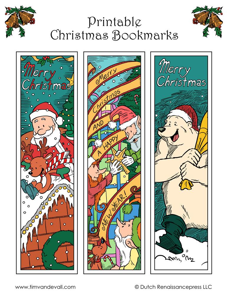 photograph regarding Printable Christmas Bookmarks called Xmas-Bookmarks - Tims Printables
