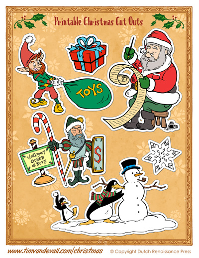 christmas cut out printables