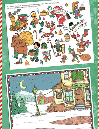 printable christmas cut and paste