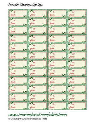 Free Printable Christmas Gift Tag Templates