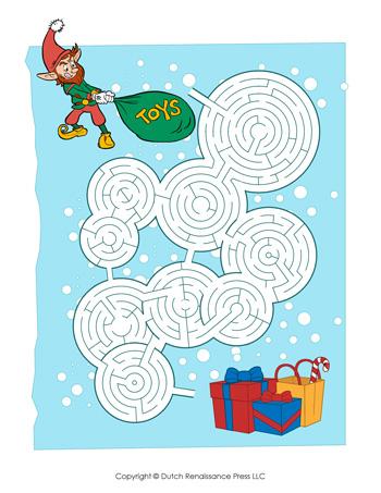 Free Worksheets » Printable Christmas Maze - Free Math Worksheets ...