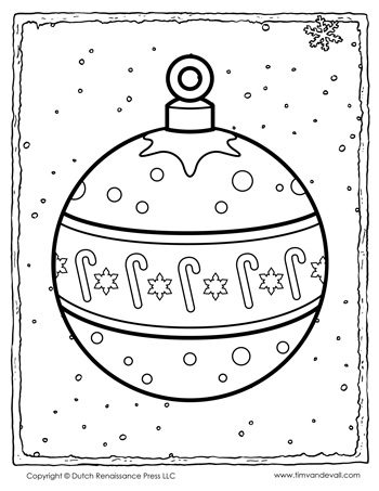 christmas ornament coloring page - Christmas Ornaments Coloring Pages
