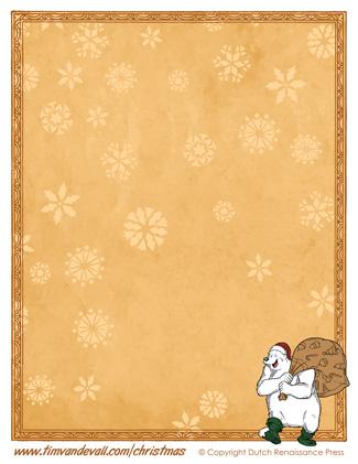 Printable Christmas Paper Template