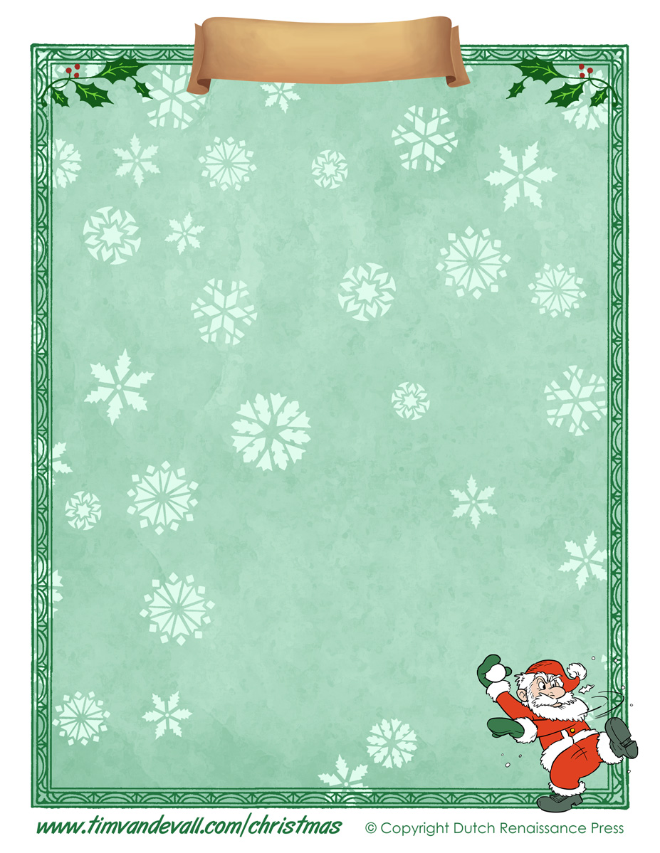 Christmas-Paper-03 One Inch Letters Template on sample business, sample request, basic cover,