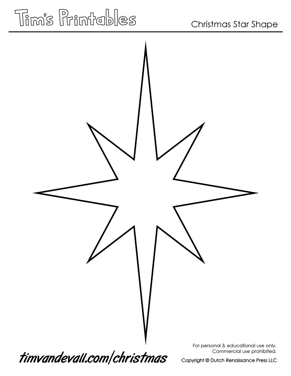 Christmas Star Templates – Star Template