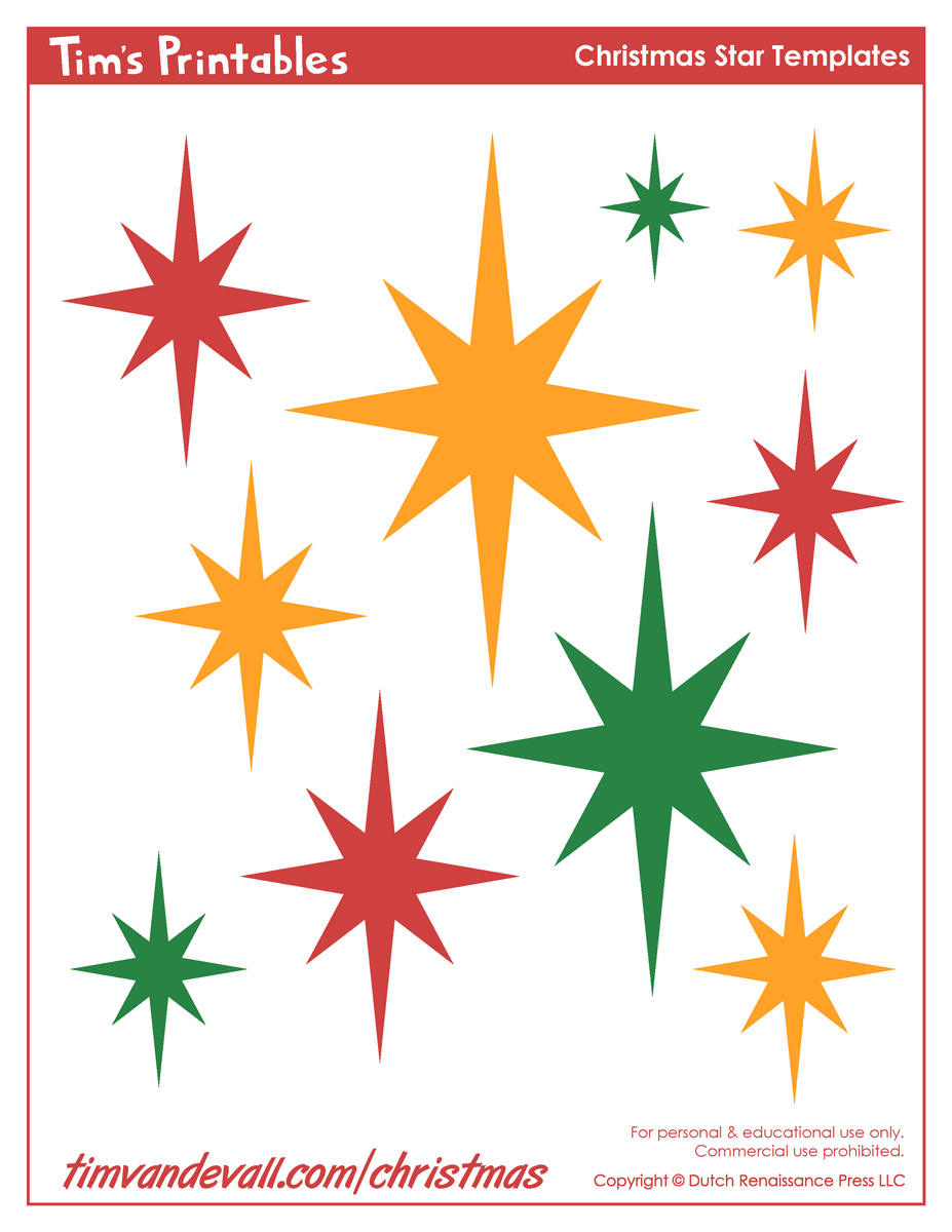 Christmas star templates