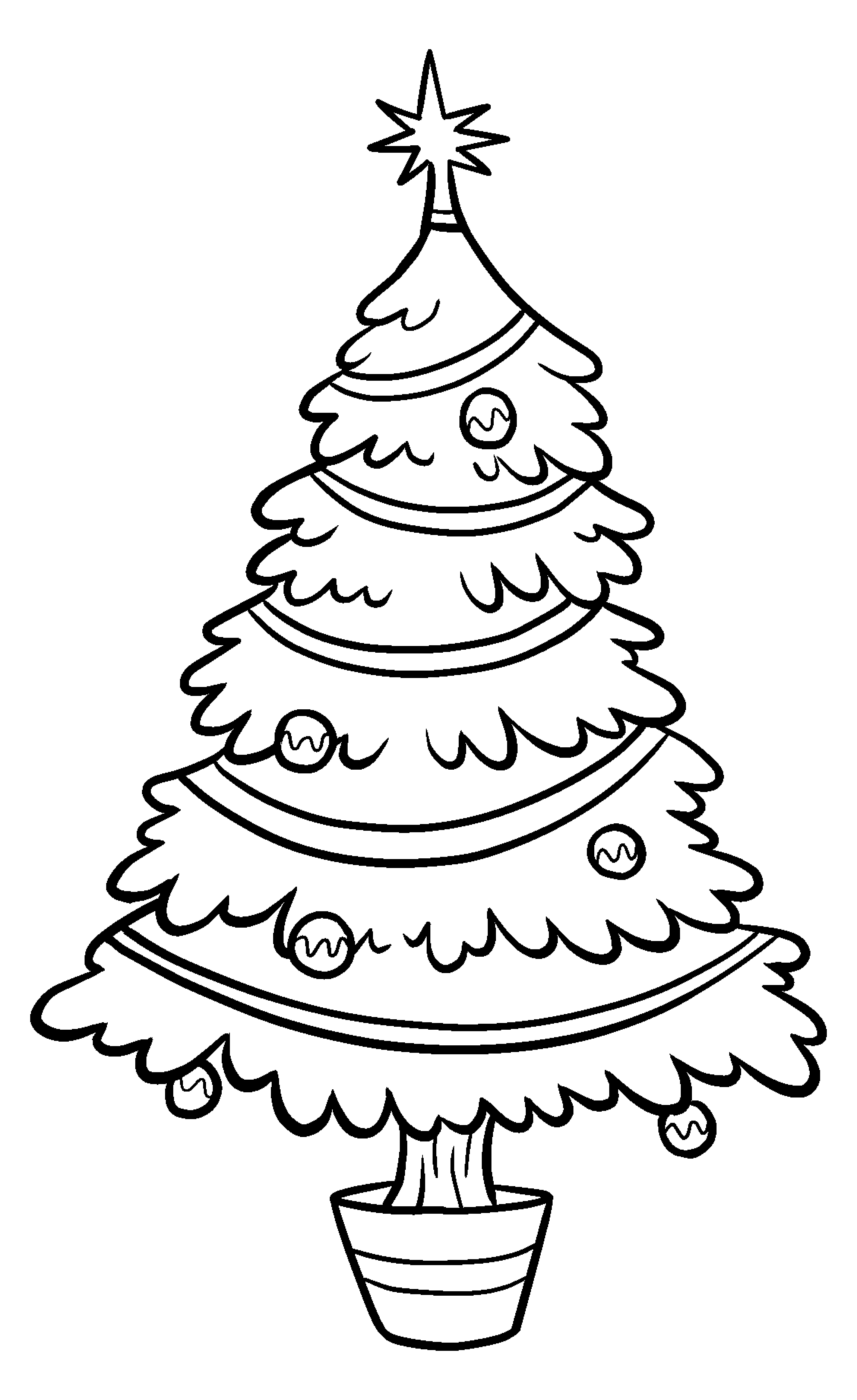 Christmas Tree Art.Christmas Tree Clip Art Bw Tim S Printables