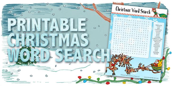 Printable Christmas Word Search - Tim\'s Printables
