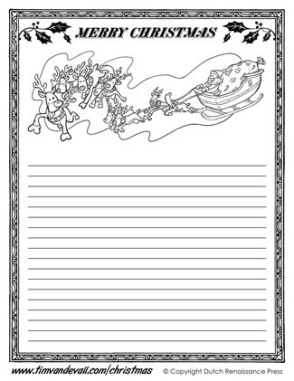 Christmas Writing Paper Template