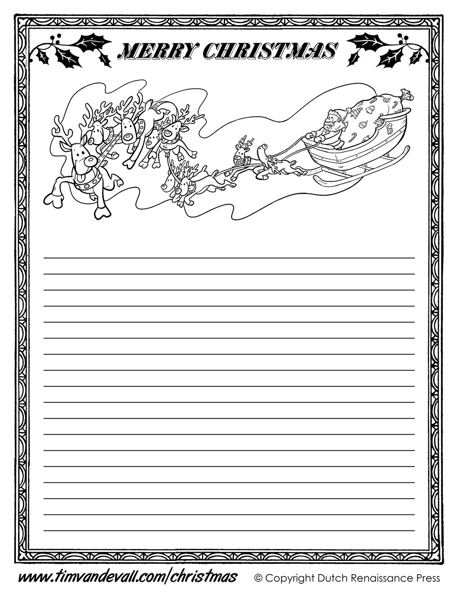 printable christmas writing paper templates christmas writing paper template