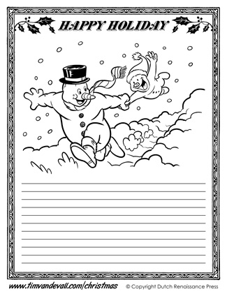 Christmas Writing Paper Template Christmas Paper Template ...