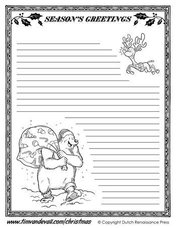 christmas writing printables