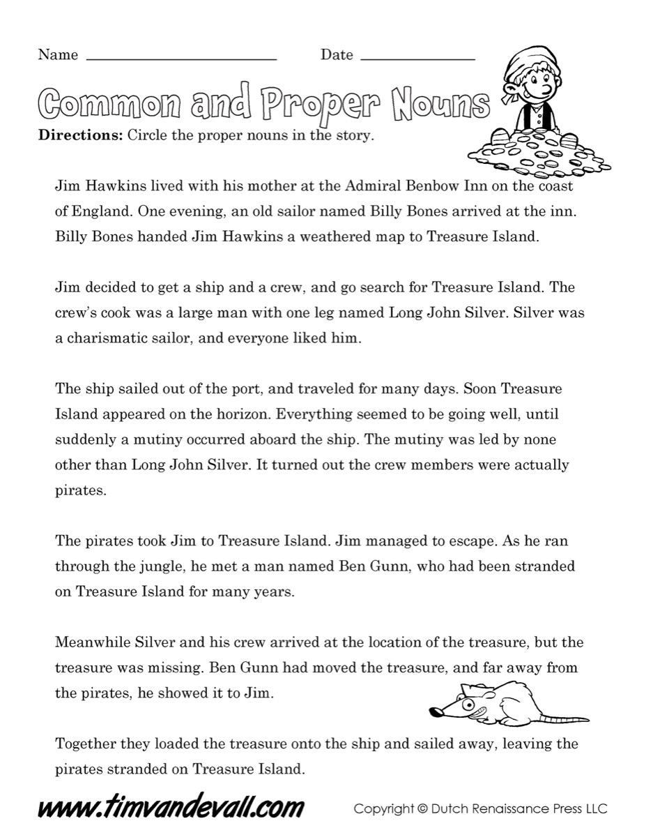 Common and Proper Nouns 01 - Tim's Printables