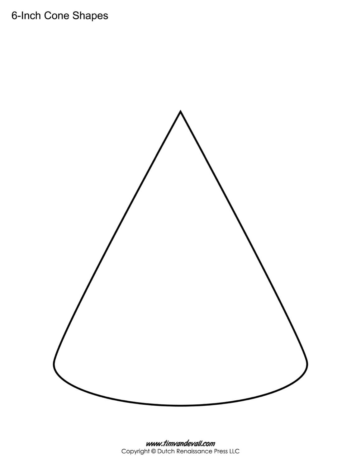 Cone Templates | Free Printable Cone Shape PDFs