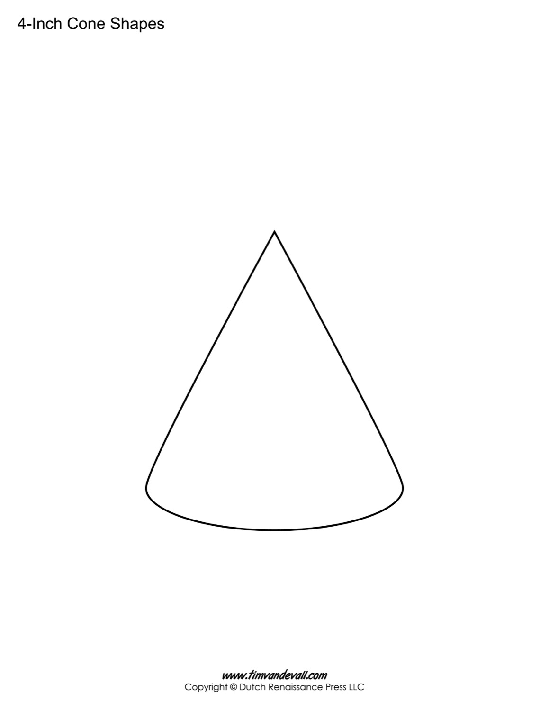 Cone printable sheet