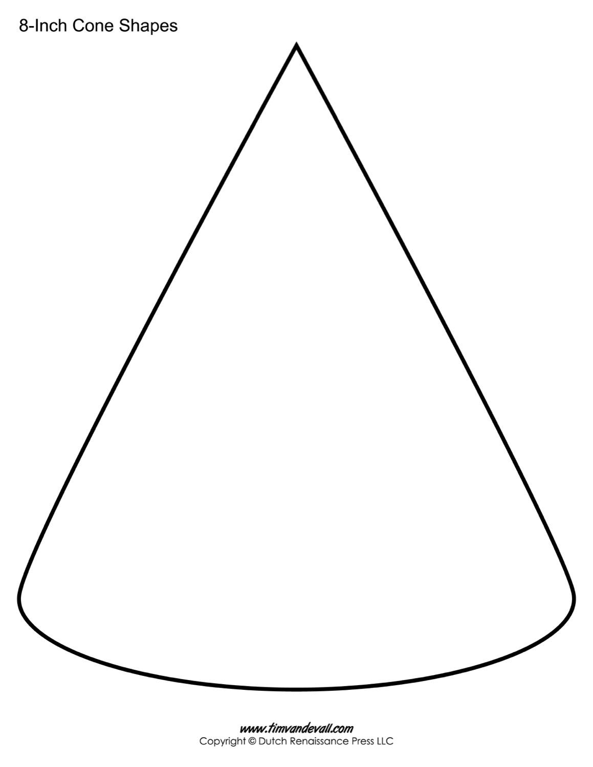 Cone template shape
