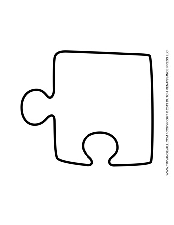 Puzzle Piece Template #2 - Tim's Printables