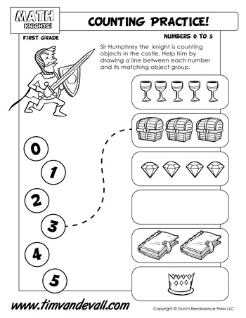 Counting Practice Worksheet Tims Printables