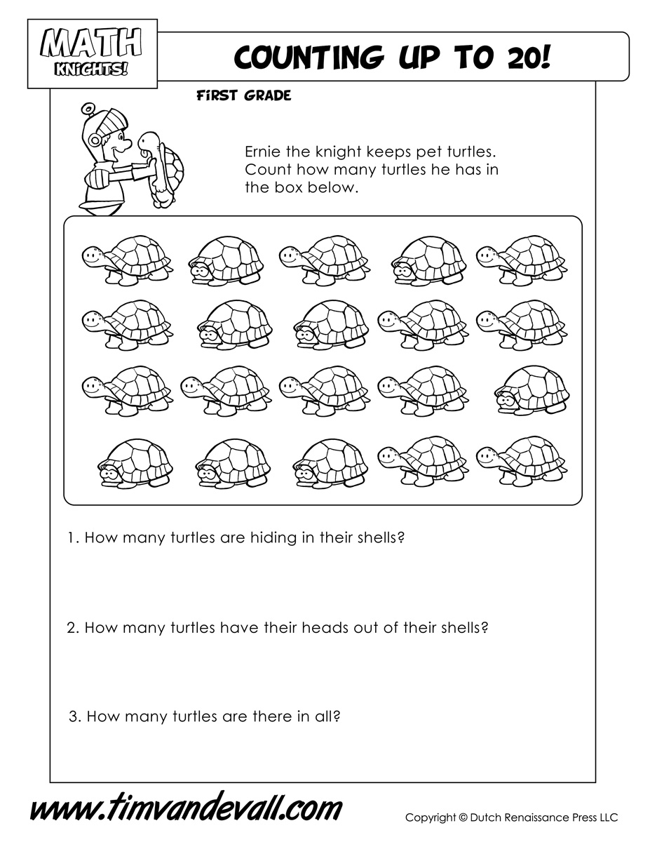 Counting Up To 20 With Turtles Tim S Printables
