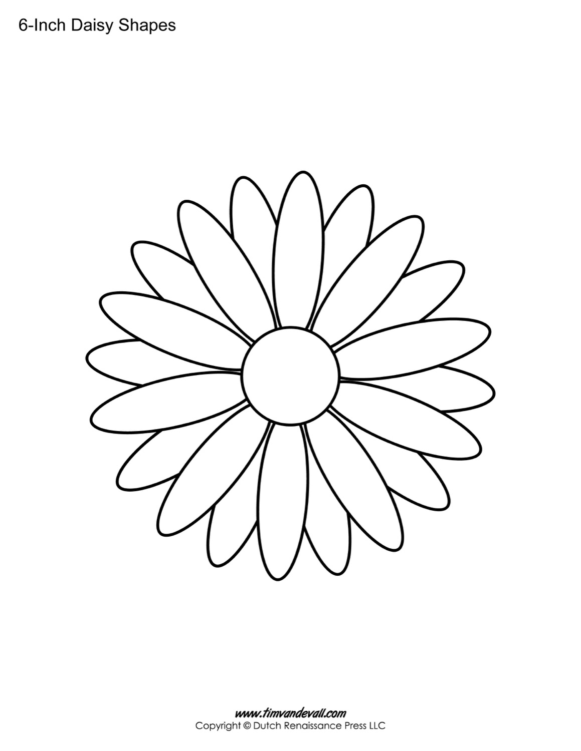It is an image of Adorable Daisy Templates Printable
