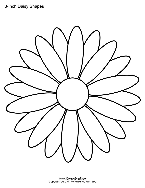Daisy Templates / Daisy Shape Printables