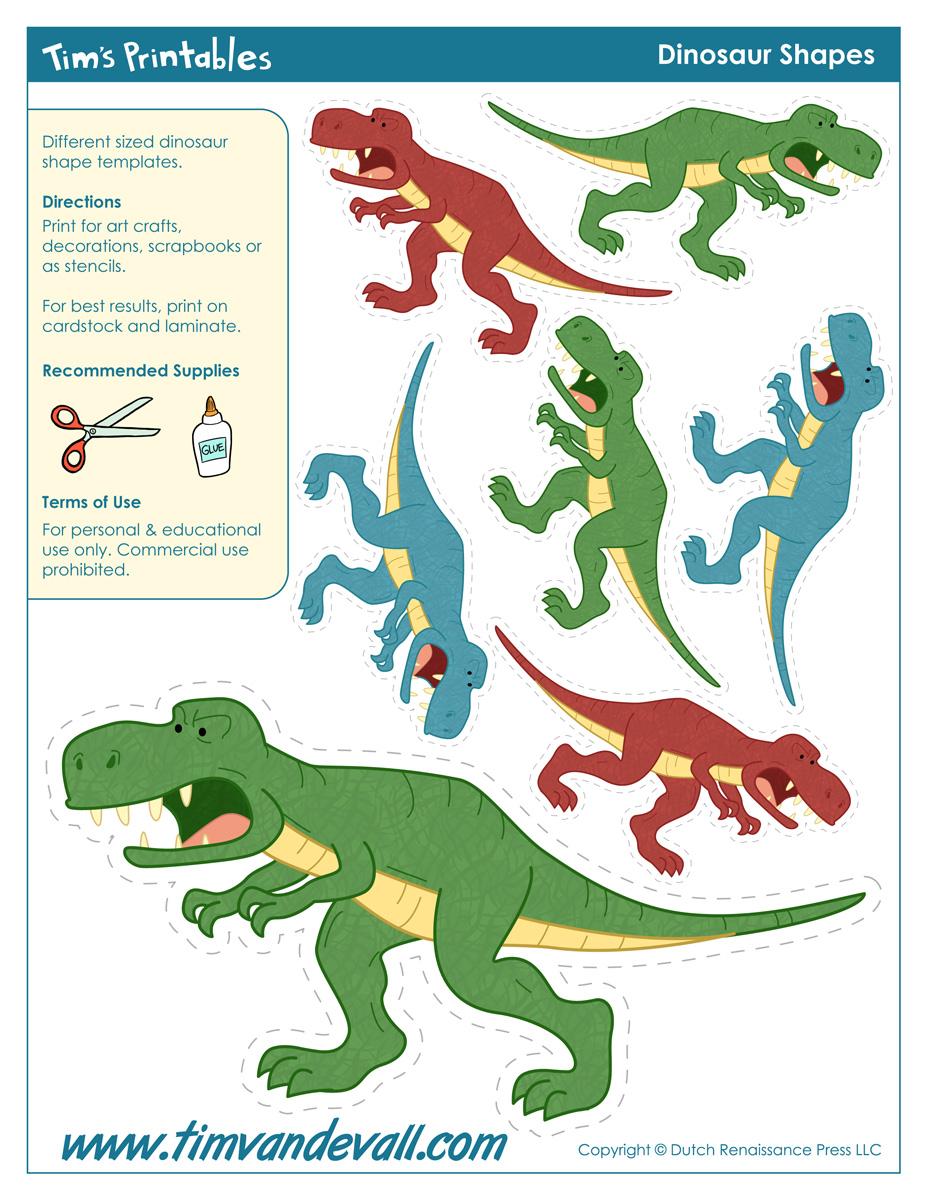 It is a photo of Adaptable Free Printable Dinosaur