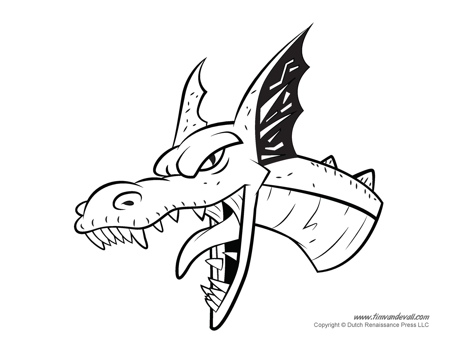 Free Coloring Pages Of Dragon Head
