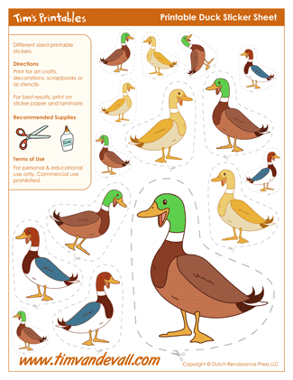 Duck stickers