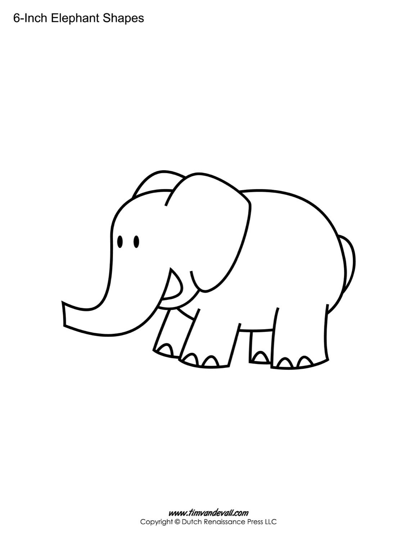 Elephant shape stencil