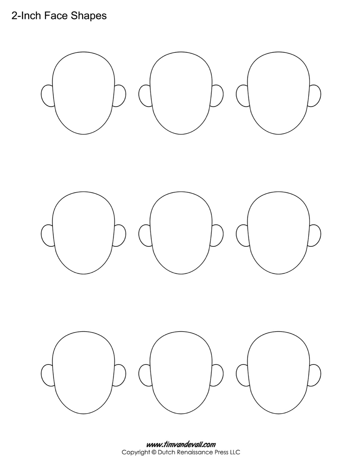 face shapes for kids - Art Templates For Kids
