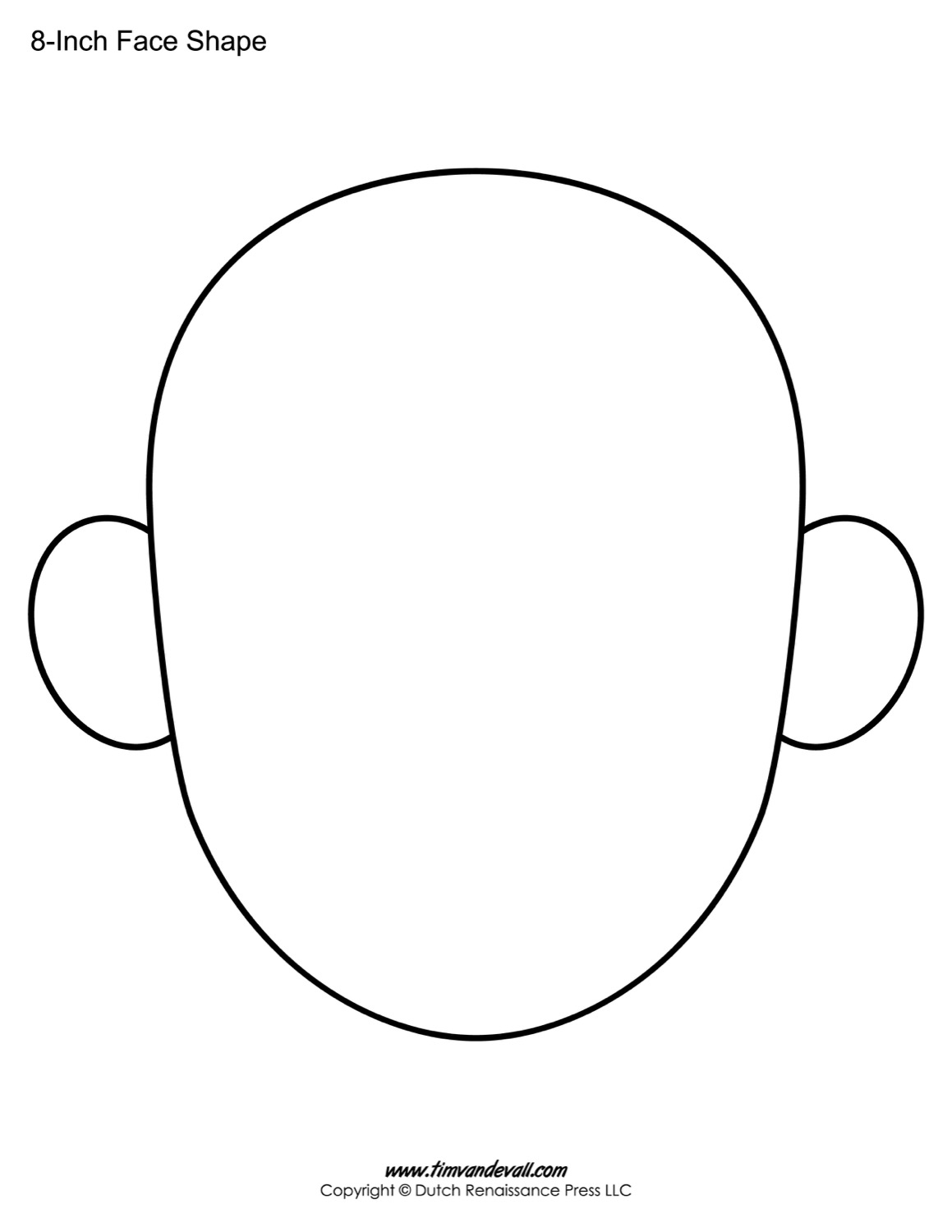 Blank Face Templates Blank Face Templates  Printable Face Shapes For Kids