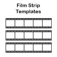 printable film strip template blank film strip template for a photo collage or movie poster
