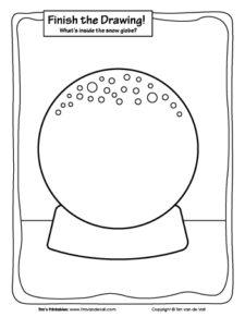 Finish the Drawing - Snow Globe