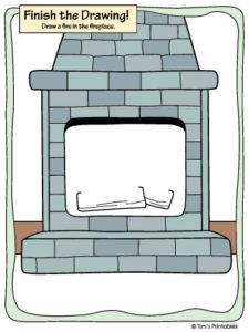 Finish the Drawing – Fire Place