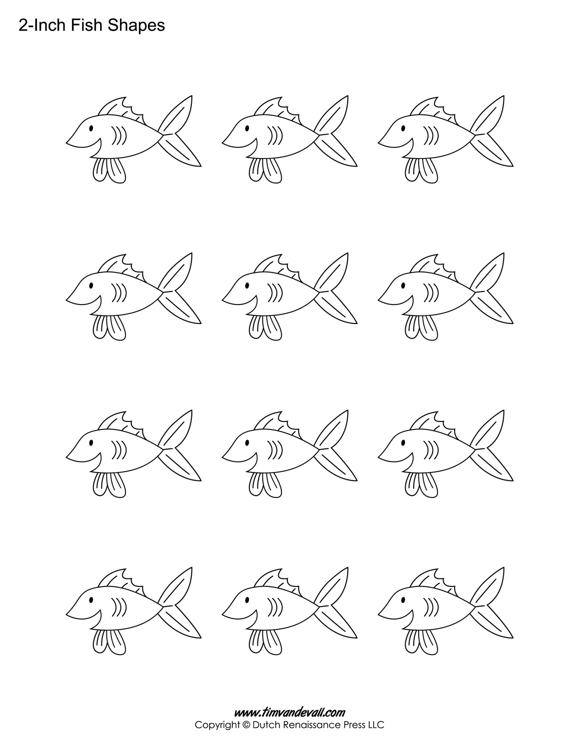 Printable Fish Templates for Kids | Preschool Fish Shapes