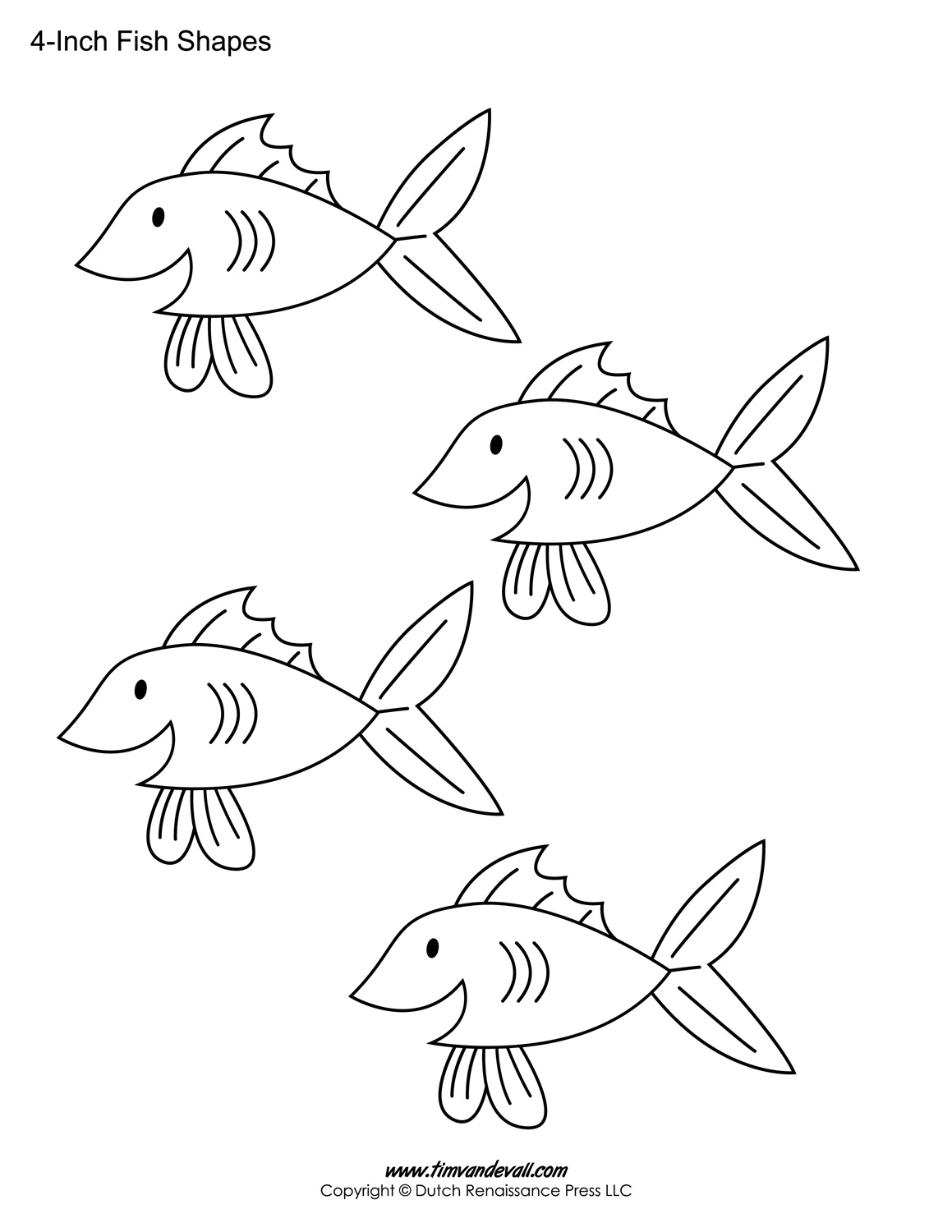 printable fish templates for kids preschool fish shapes