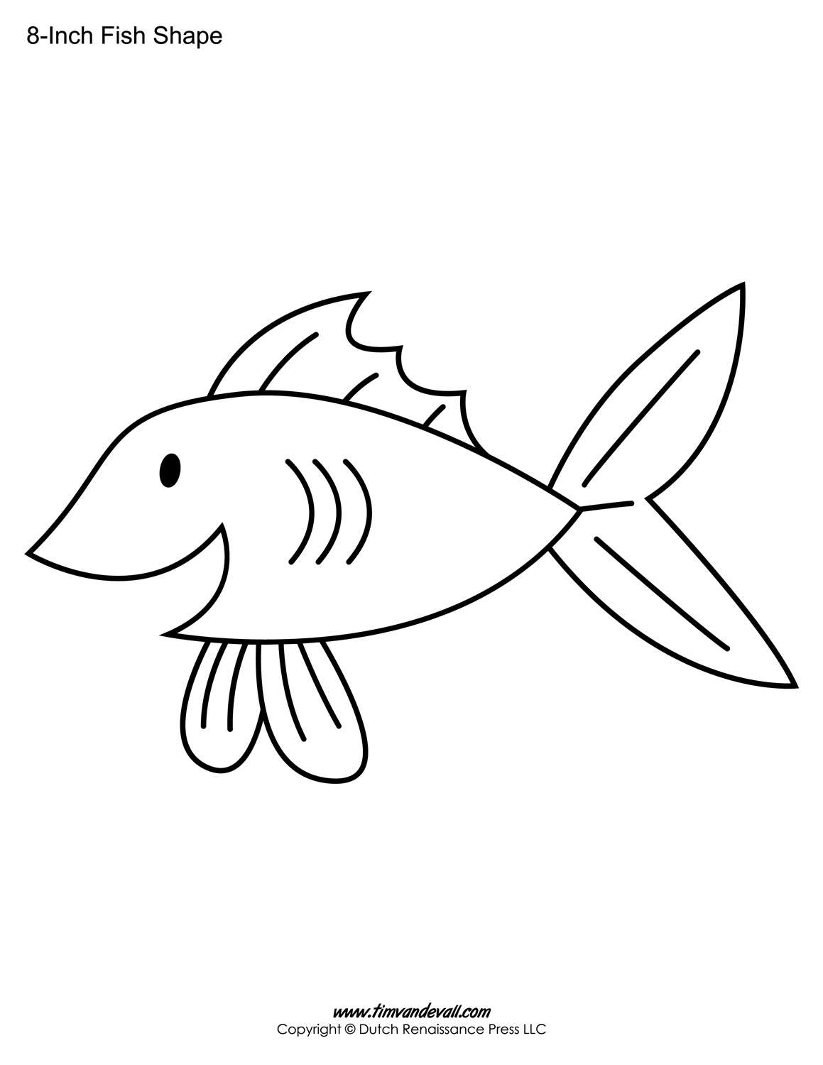 picture relating to Fish Template Printable titled Printable Fish Templates for Young children Preschool Fish Designs