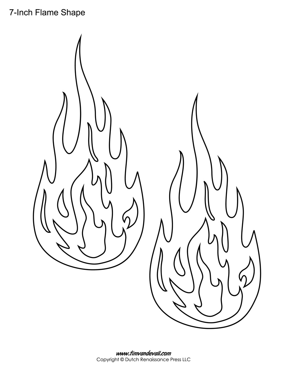 printable flame stickers flame templates flame shapes