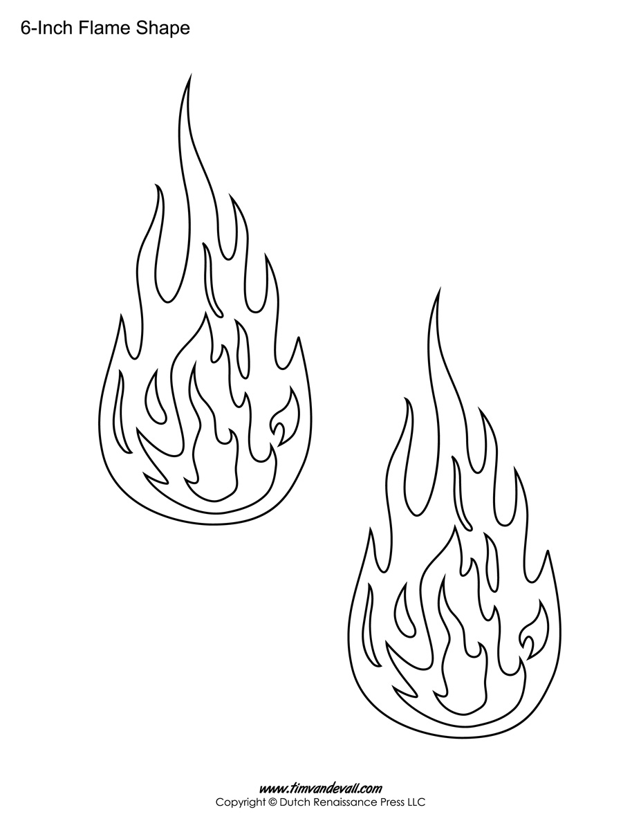 Flame shape stencil