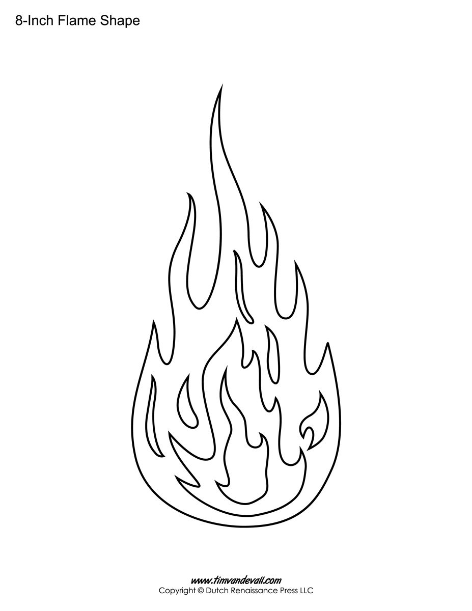image regarding Flame Stencil Printable named Printable Flame Stickers, Flame Templates, Flame Designs