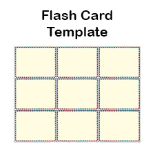 Blank Flash Card Templates Printable Flash Cards PDF Format - Flashcard template free