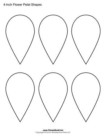 Flower petals 4 in tim 39 s printables for 12 petal flower template