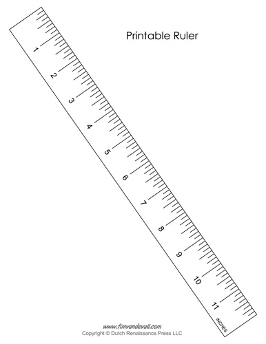 Tactueux image in online printable ruler