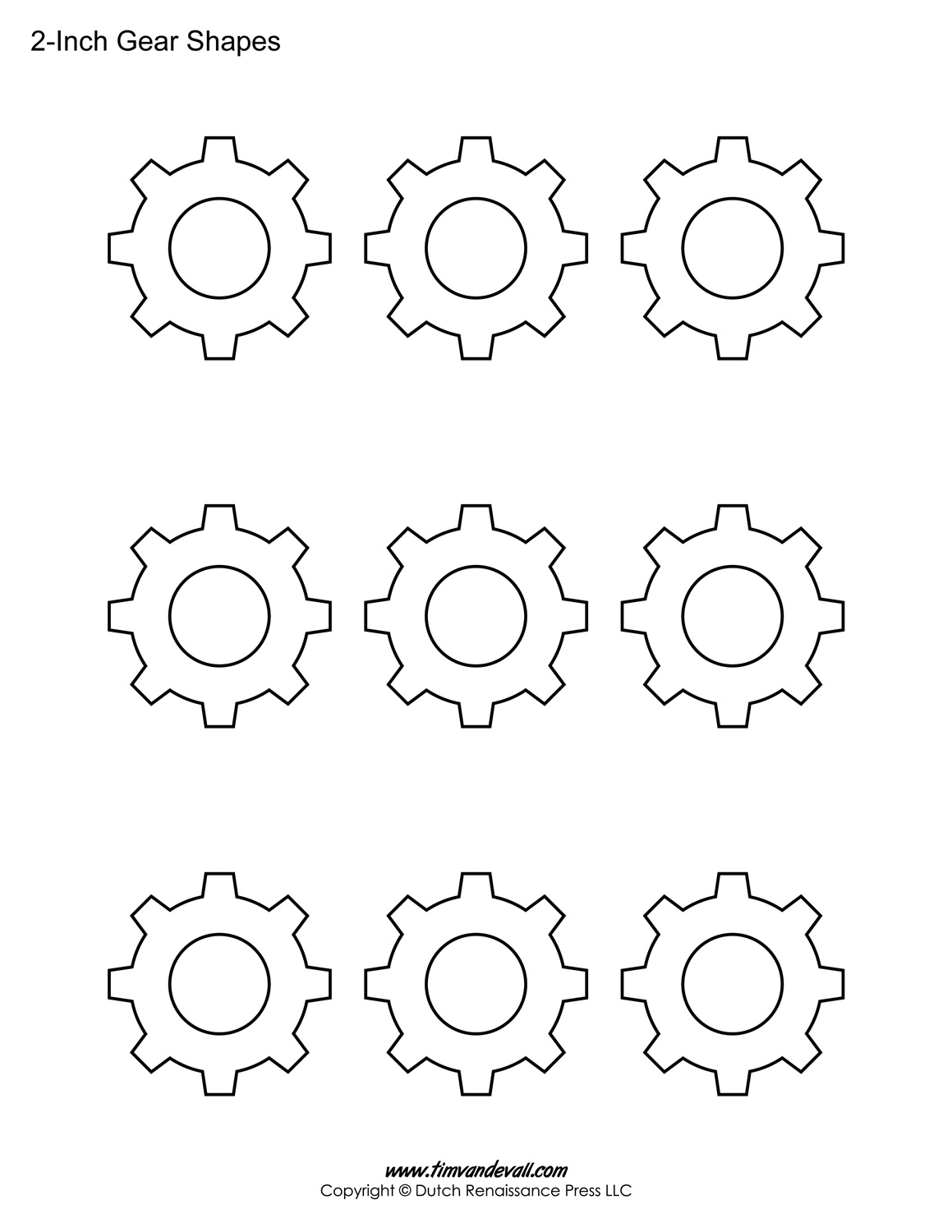 Each gear template is available in 4 different colors, as well as ...