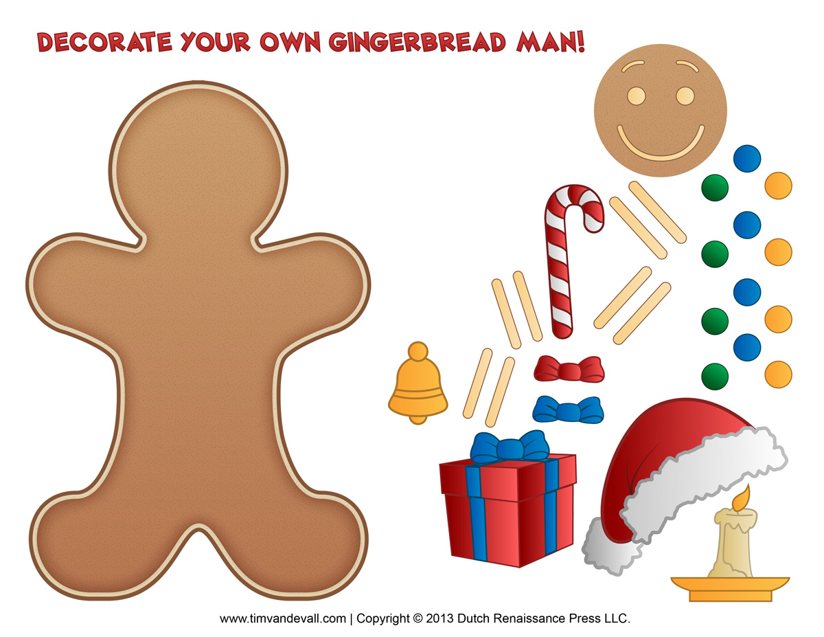 gingerbread man activity tim u0027s printables