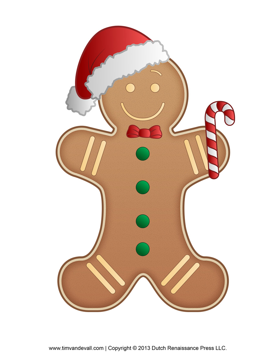 Free coloring page gingerbread man