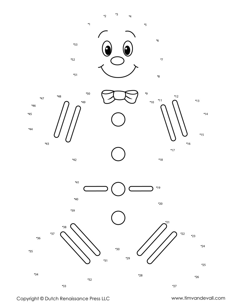 Christmas Dot to Dot for Kids Printable Holiday Connect the Dots